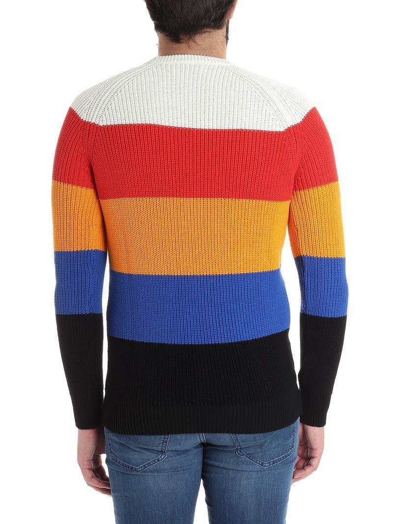 AMI Cotton Multicolor Sweater for Men