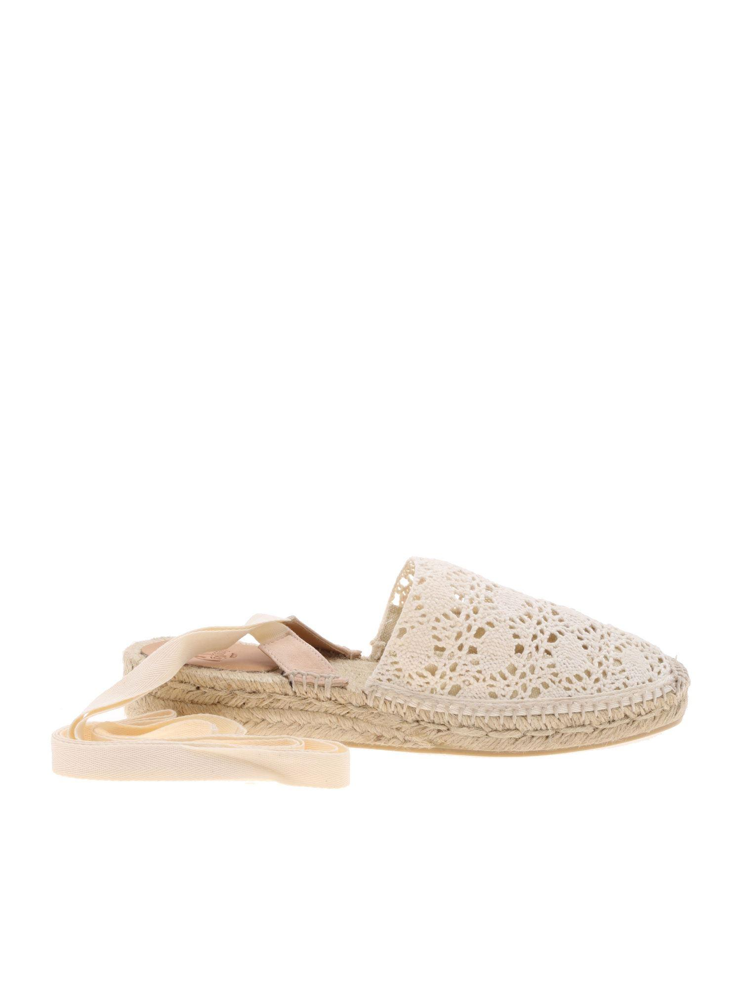 4b98c016024f Castaner Gabe Espadrilles In Lace In Ivory Color in White - Lyst