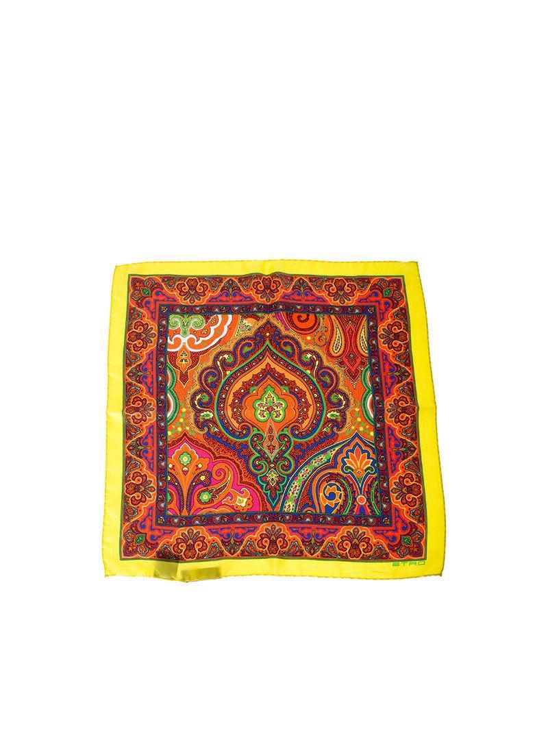 Blue Bangalore silk foulard Etro PVUbyAOZ