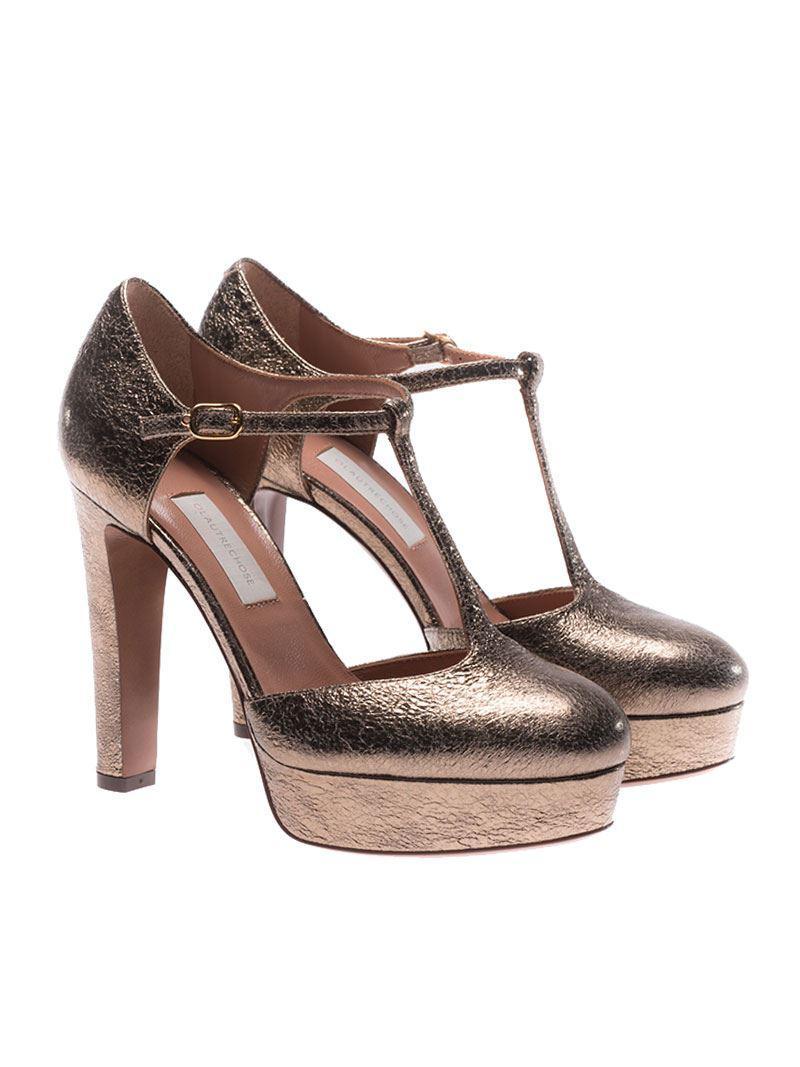 Bronze Colored T-strap Sandals L'autre Chose 5QowEBA9l