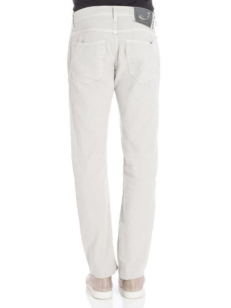 Jacob Cohen Denim Ice Colored 5 Pocket Jeans in White for Men