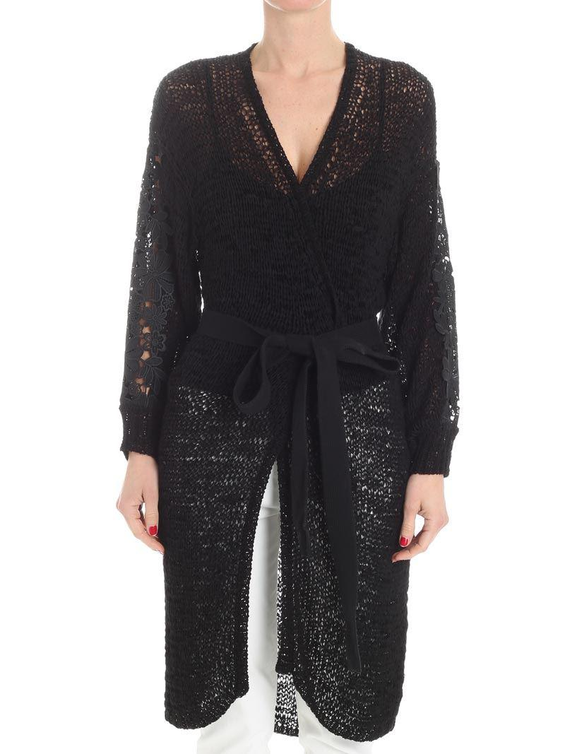 Excellent Black openwork cardigan See By Chloé Nice High Quality For Sale Fashionable Online Vxicyl