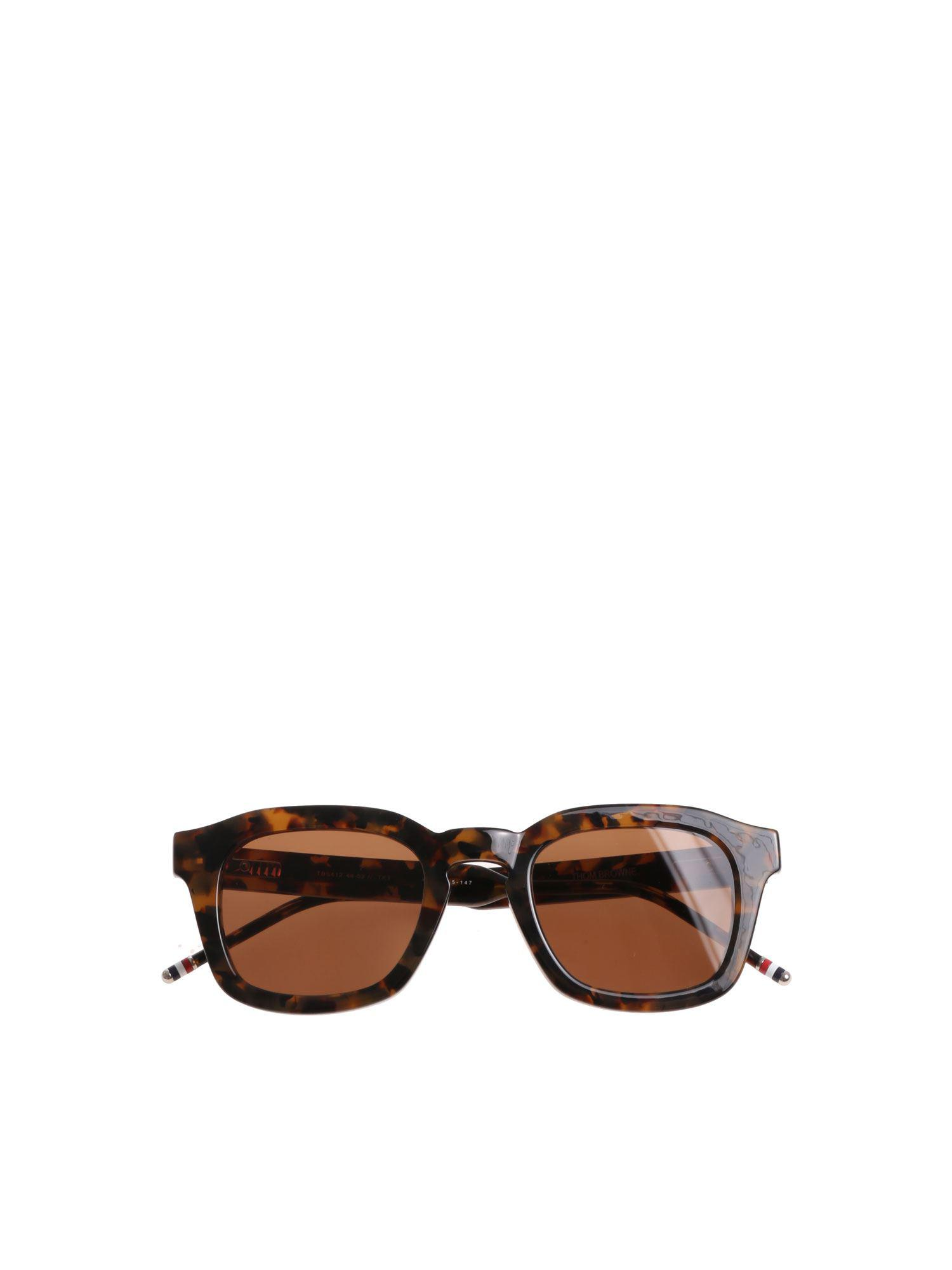 4c74e6d5d23 Thom Browne Brown Animalier Sunglasses in Brown for Men - Lyst