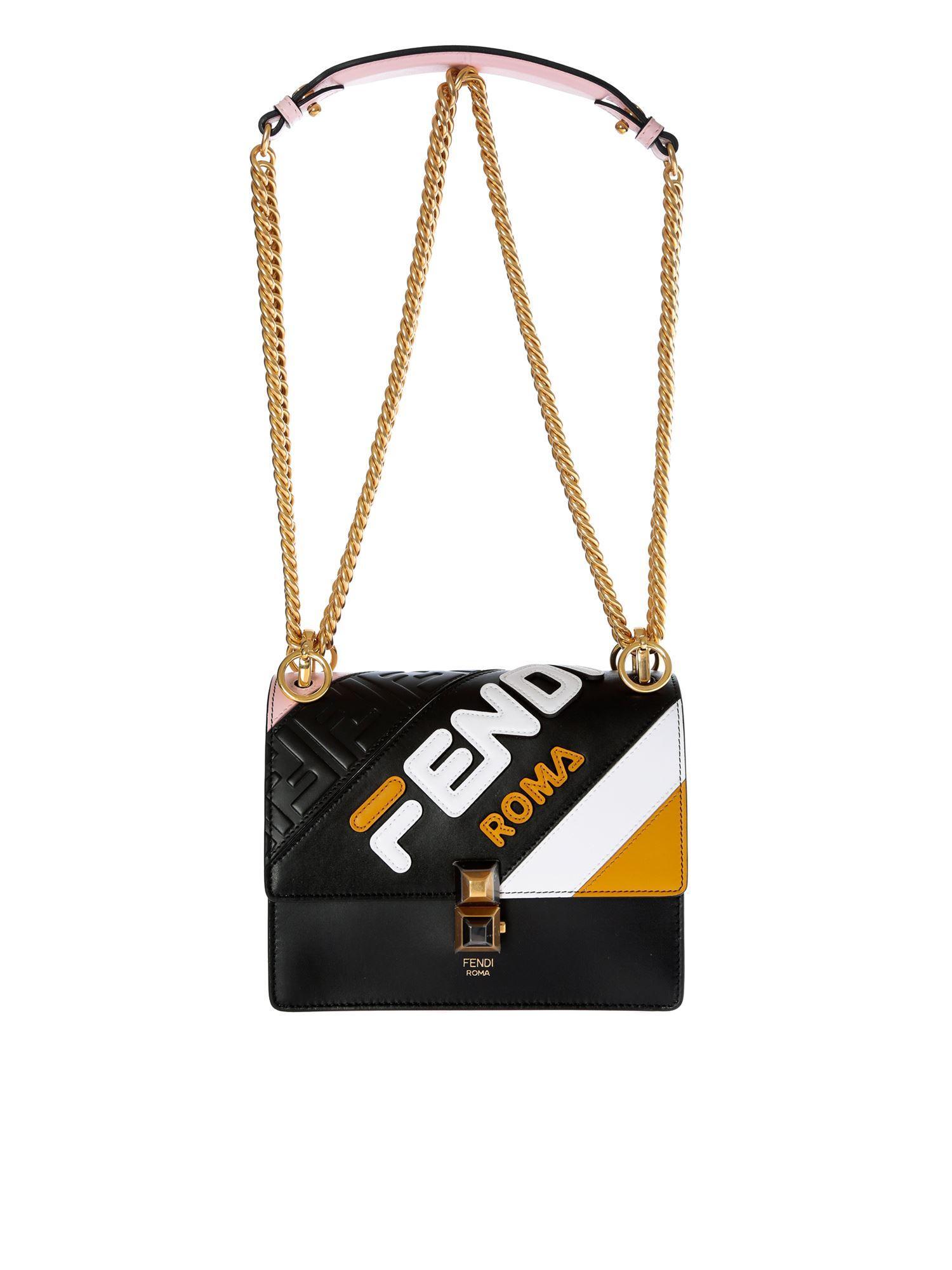 17f8029338d5 Fendi Kan I Small Black Bag in Black - Save 18% - Lyst