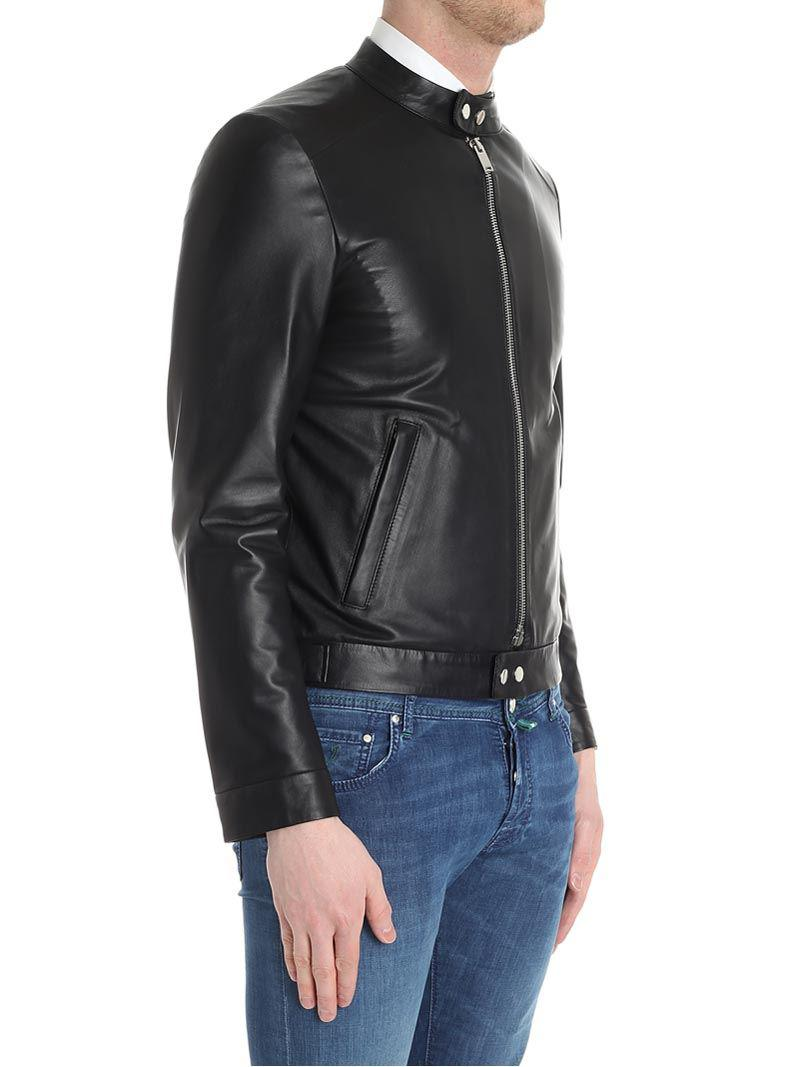 Desa Leather Black Jacket for Men
