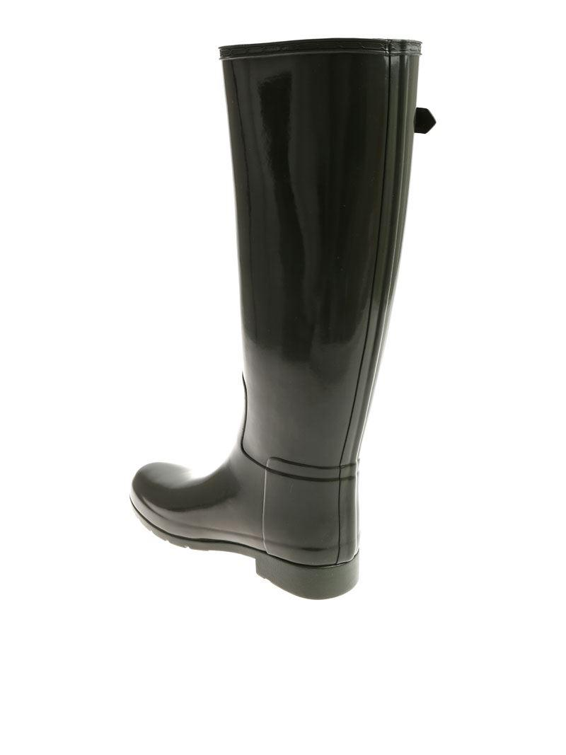 HUNTER Rubber Glossy Dark Green Wellington Boots