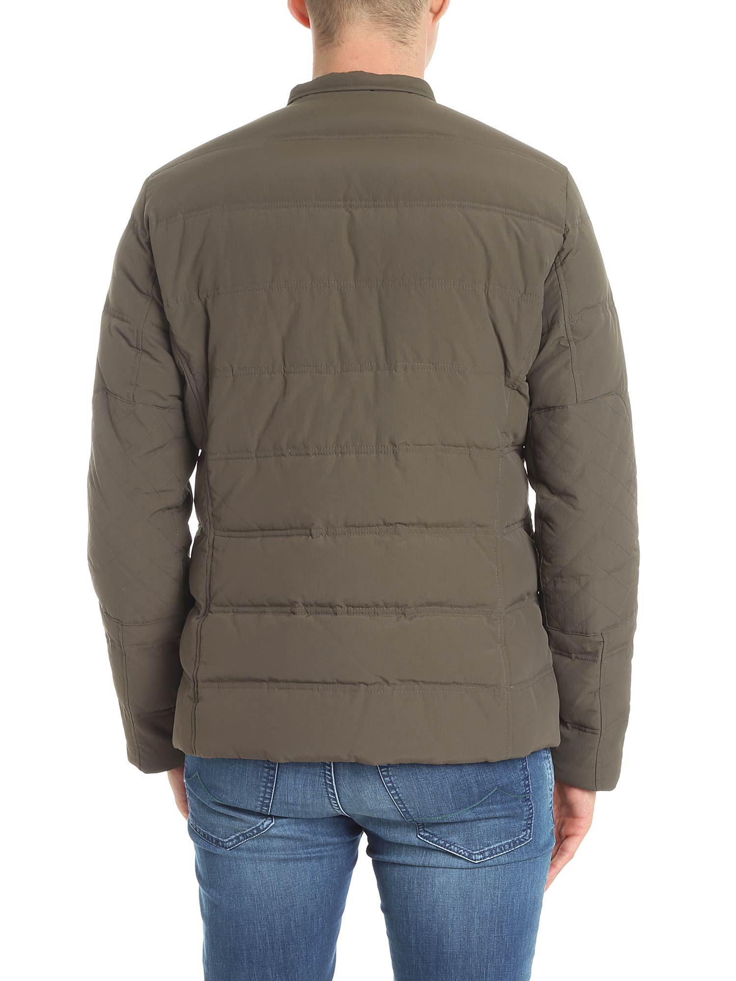 Colmar Synthetic Brown Quilted Jacket With Chest Pockets for Men