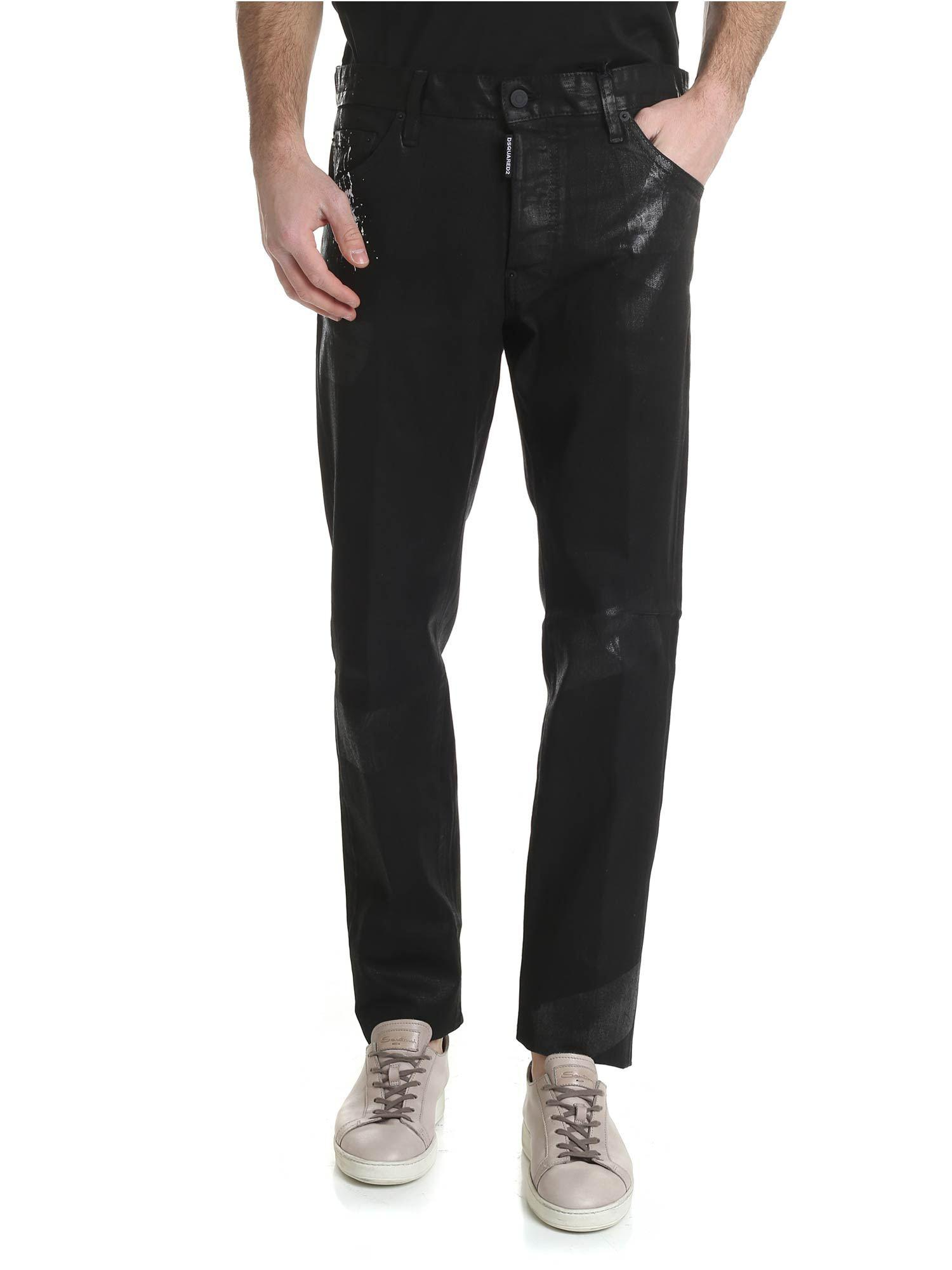 21ba9a5820a Lyst - DSquared² Cool Guy Jeans In Shiny Cotton in Black for Men