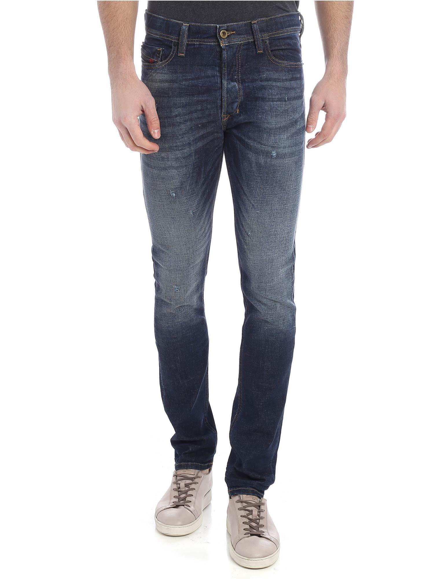 dcb2ac0b Diesel Tepphar Blue Jeans in Blue for Men - Lyst