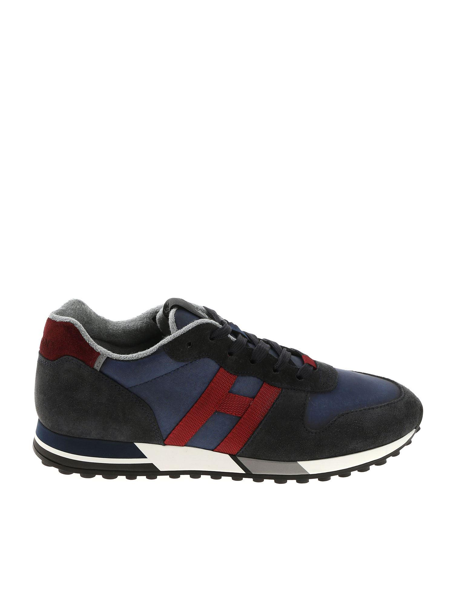 Lyst - Hogan H383 Blue And Burgundy Sneakers in Blue for Men b93ef0c1f