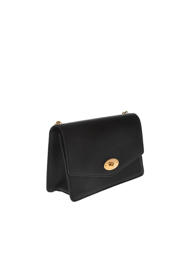 6de6103214 Mulberry Darley Shoulder Bag In Black in Black - Save 1% - Lyst