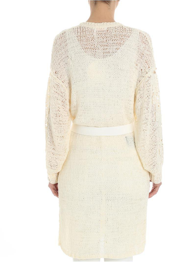 Cream-color openwork cardigan See By Chloé Shopping Online Low Cost For Sale Clearance Get To Buy Cheap Classic For Sale Cheap Real DBRhbJCMj