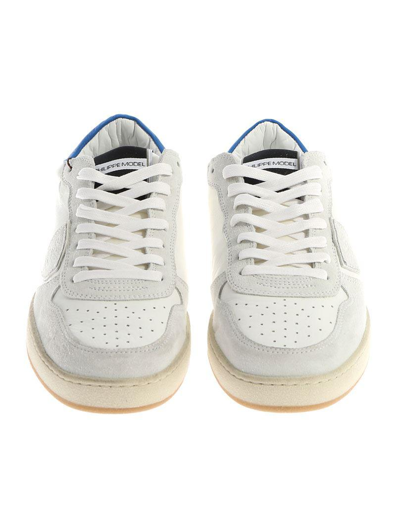 Philippe Model Leather Lakers L Sneakers in White