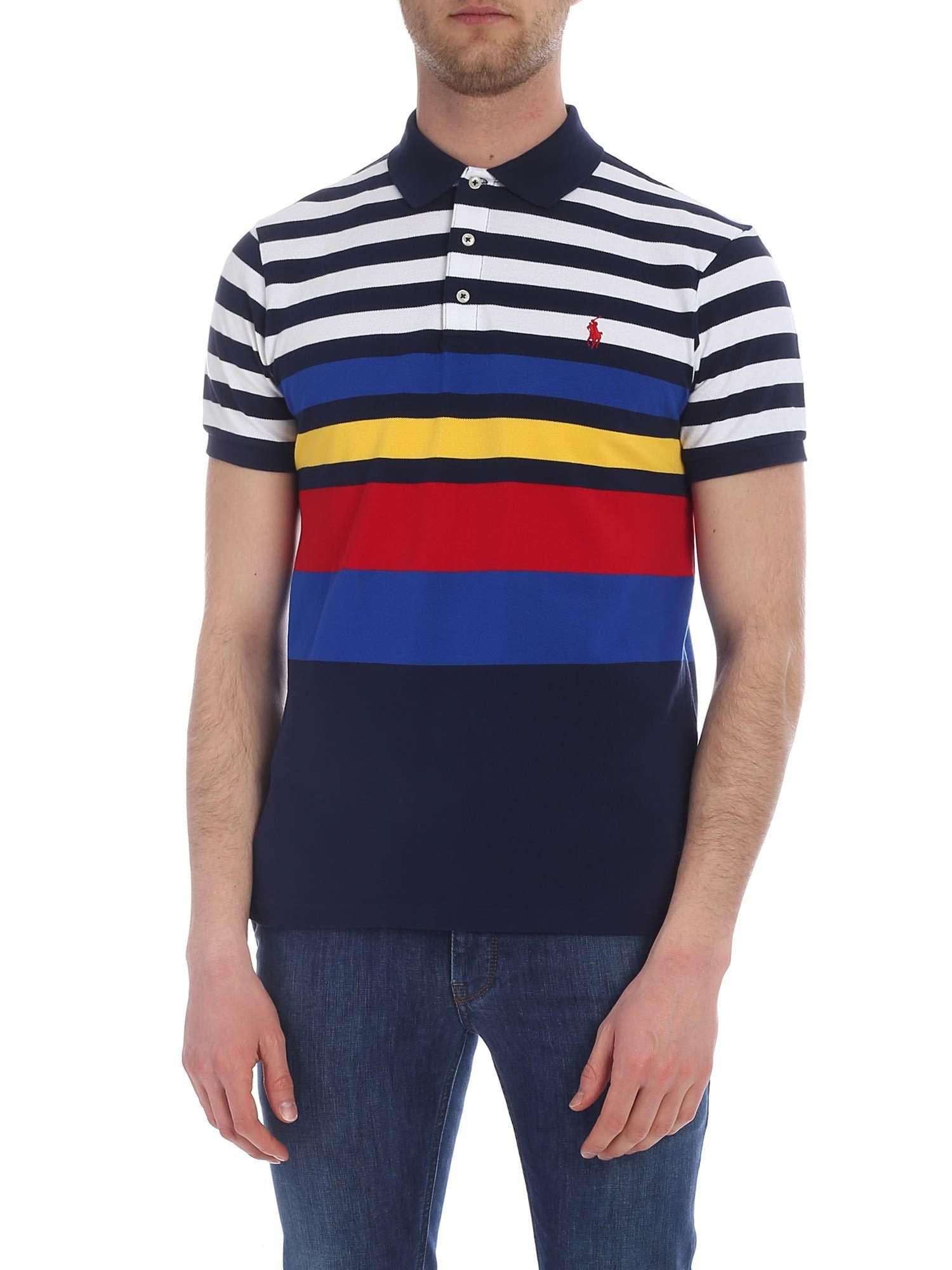 0d9e30c9 Polo Ralph Lauren Blue And White Knitted Polo in Blue for Men - Lyst
