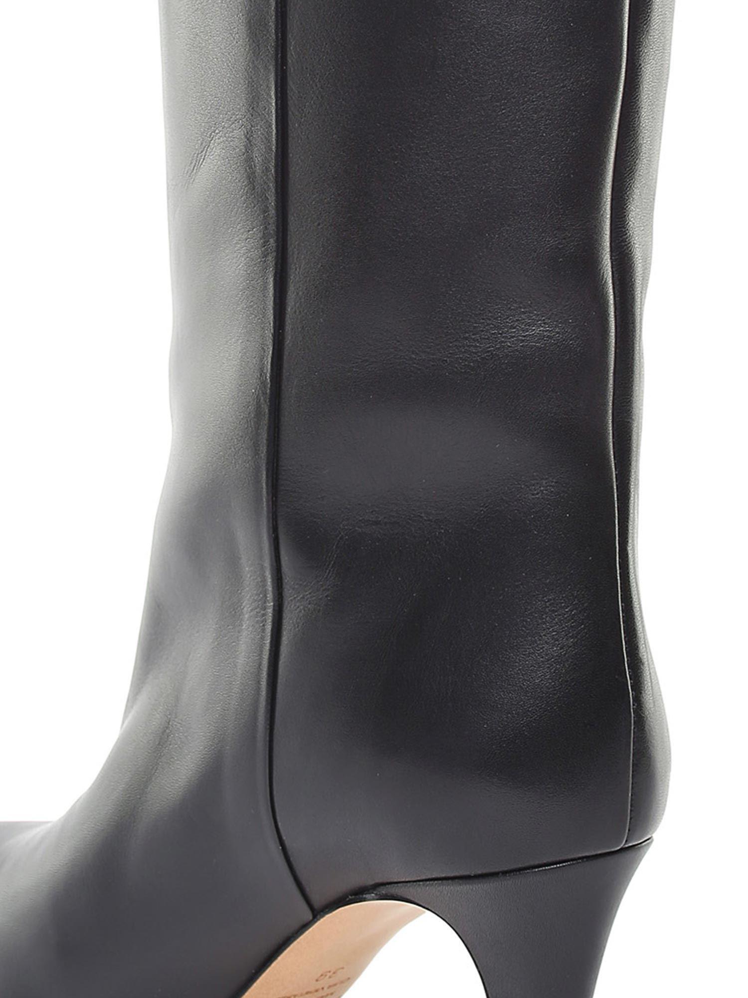 Isabel Marant Leather Black Latsen Boots