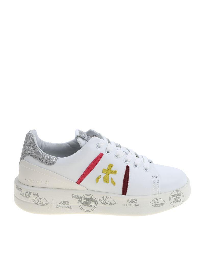 Belle sneakers with leather inserts Premiata UcpLsH3t