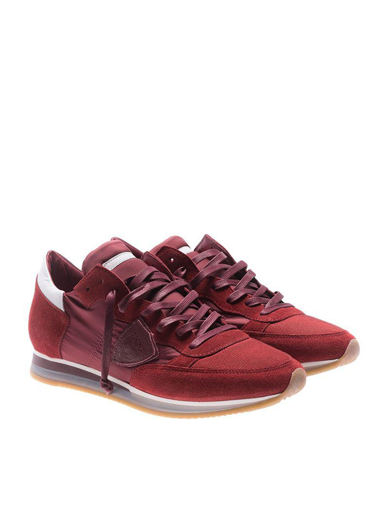 Burgundy Tropez sneakers Philippe Model uoPFtGL