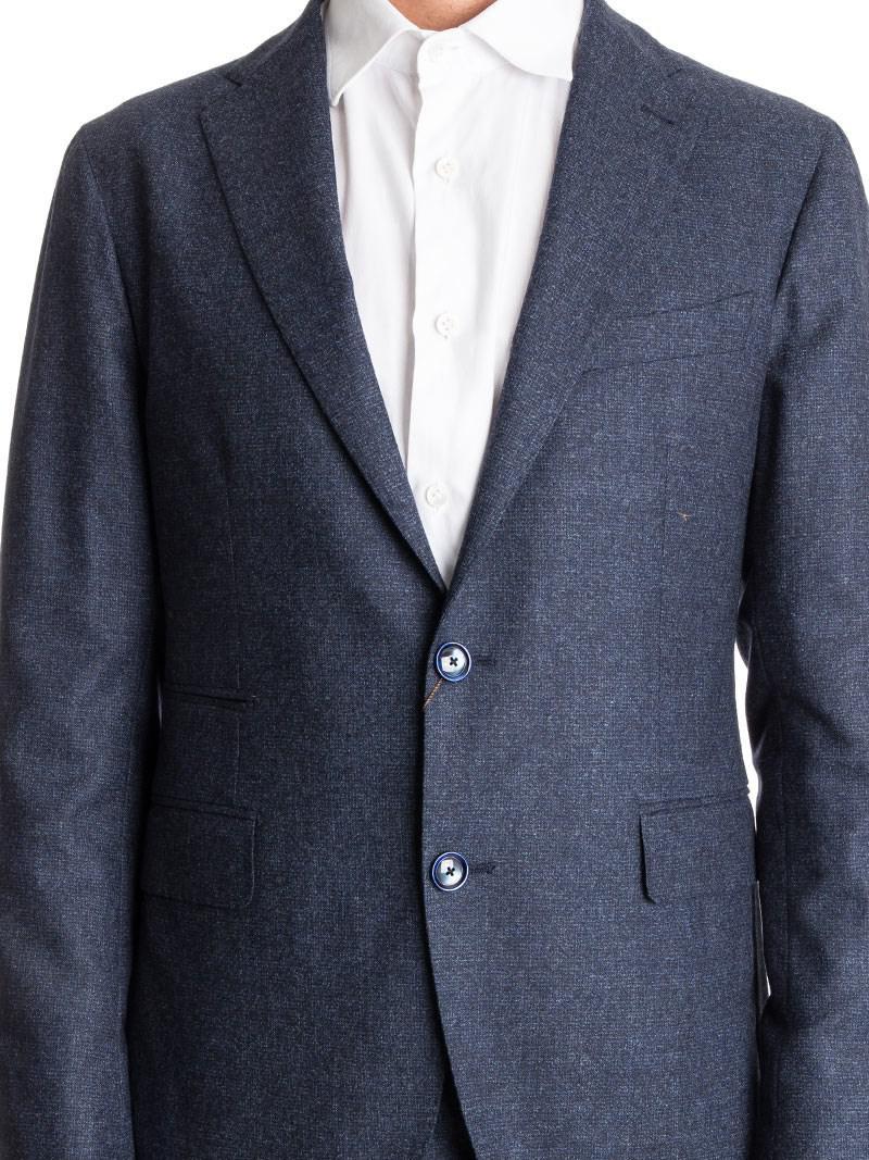 Tagliatore Wool Suit in Blue for Men