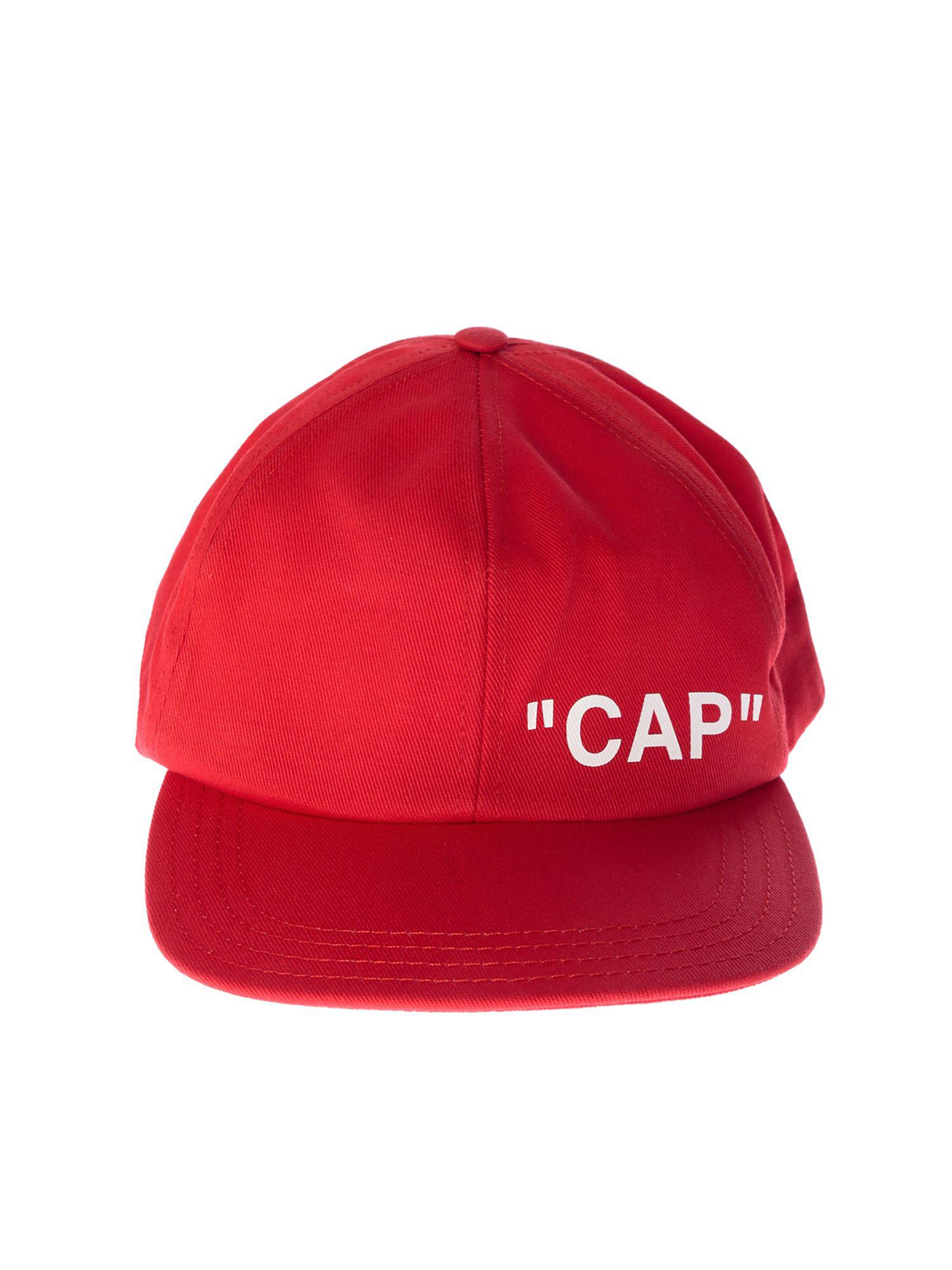 9777e67cb5d Off-White C O Virgil Abloh Red Quote Baseball Cap in White for Men ...