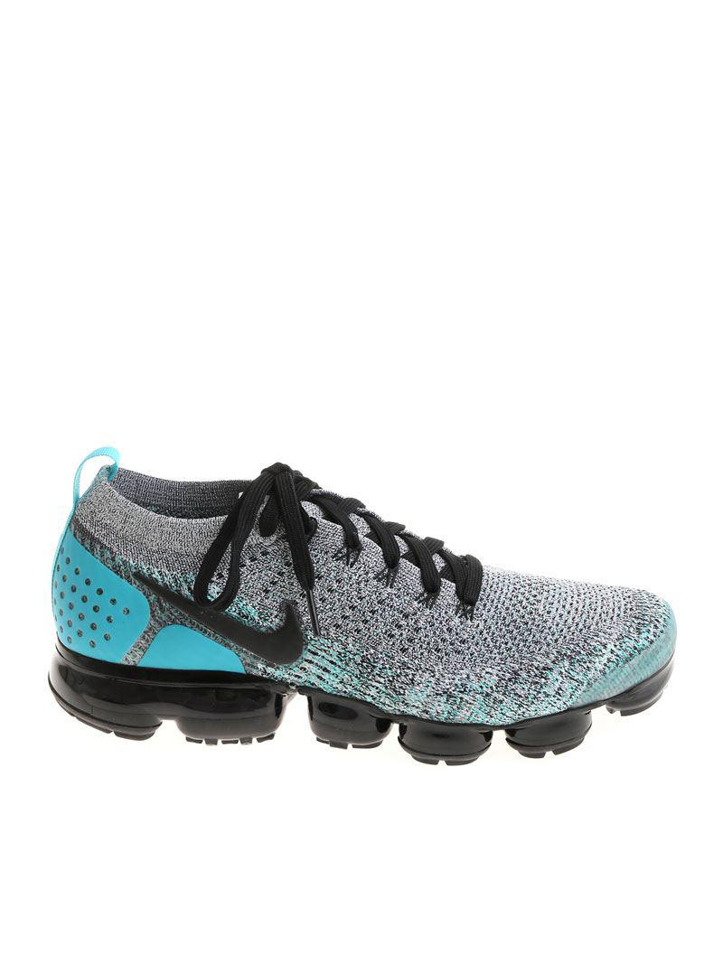 finest selection e3099 9d8ab Men's Gray And Light Blue Air Vapormax Flyknit 2 Sneakers