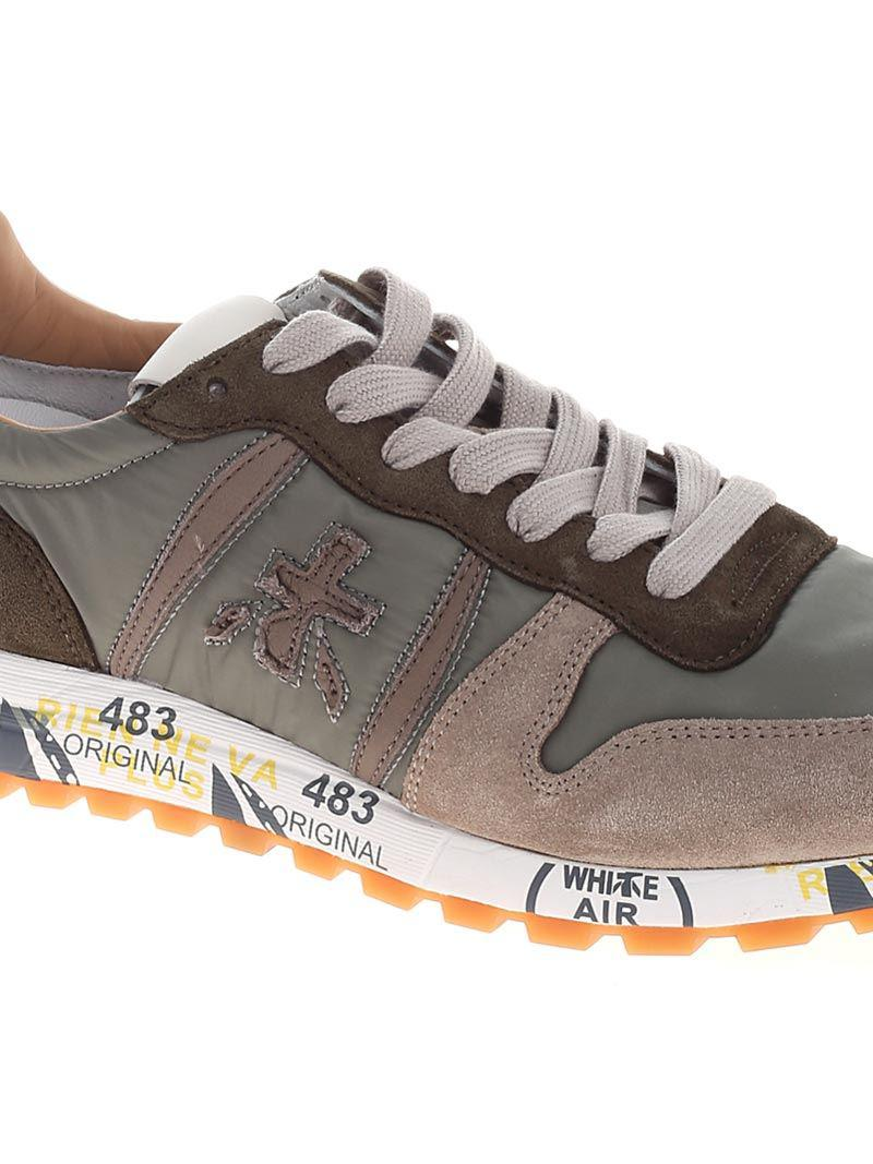 Premiata Green And Taupe Eric Sneakers for Men Lyst