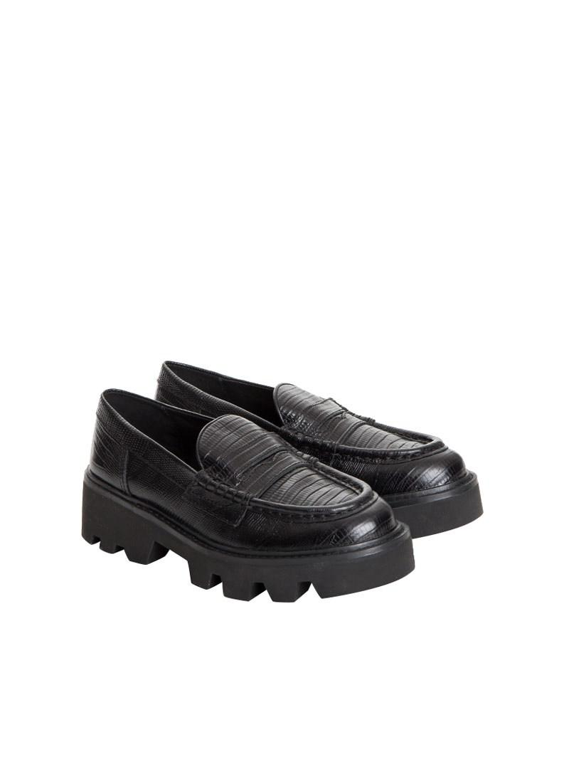ae5debbe679 Lyst - Ash Serum Leather Moccasins in Black for Men