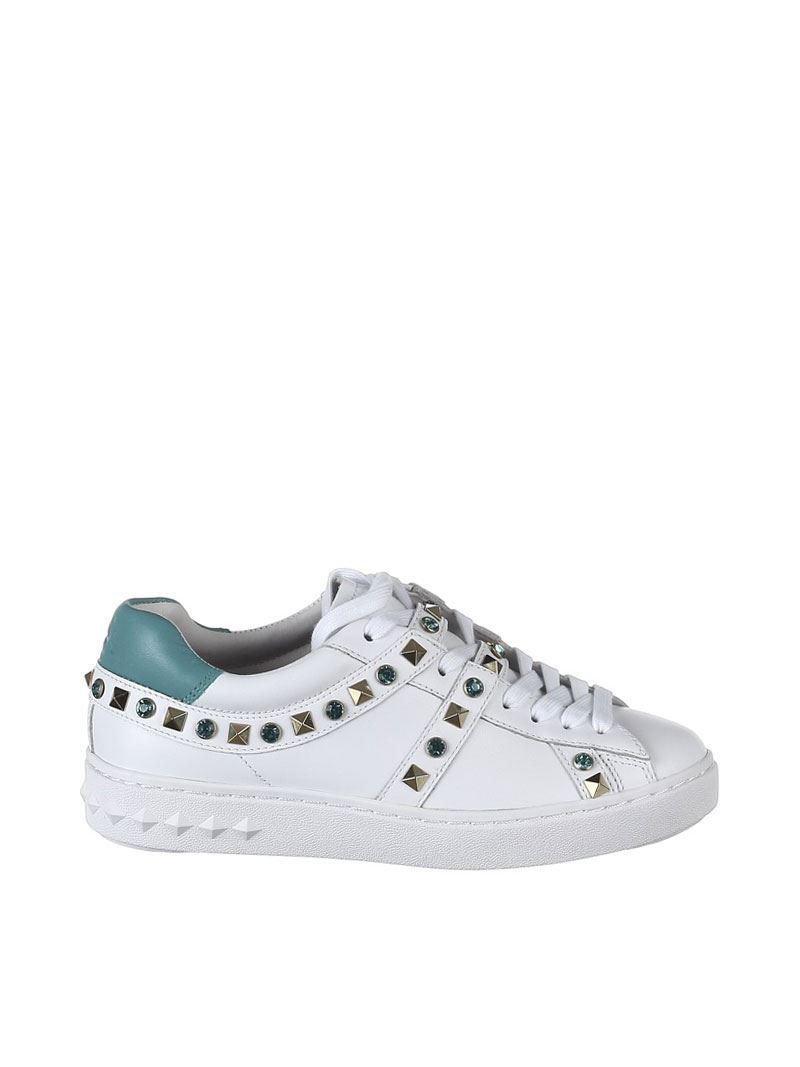 Ash Leather Play Sneakers With Studs