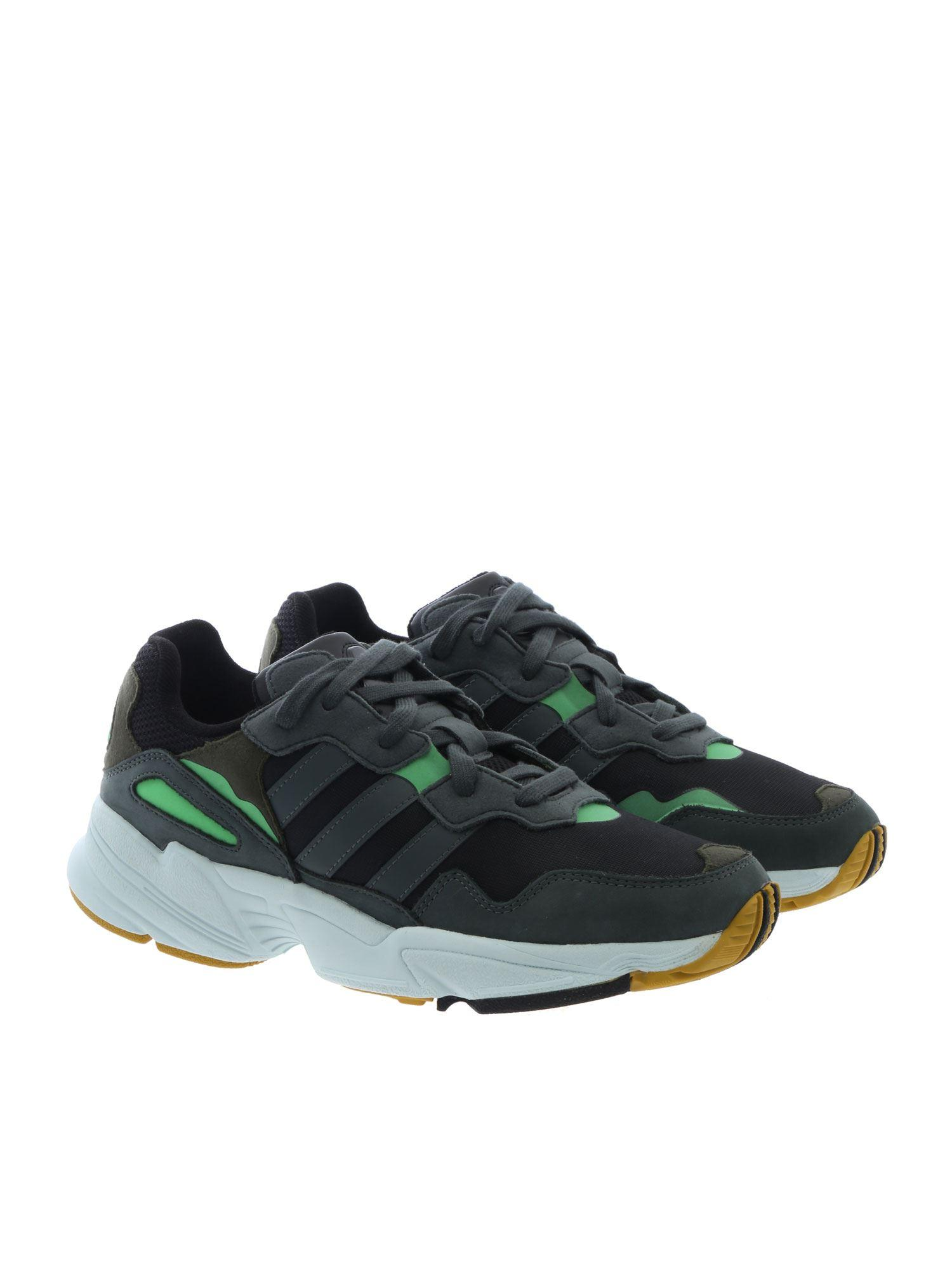 detailed look 4dbfe 6e001 Lyst - adidas Originals Green And Black Yung-96 Sneakers in Green for Men