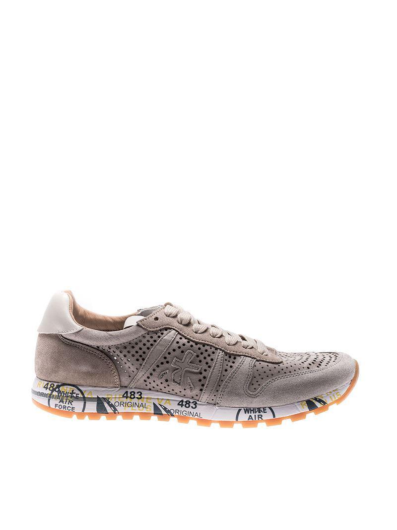 Premiata Suede Beige Eric Sneakers in Natural for Men