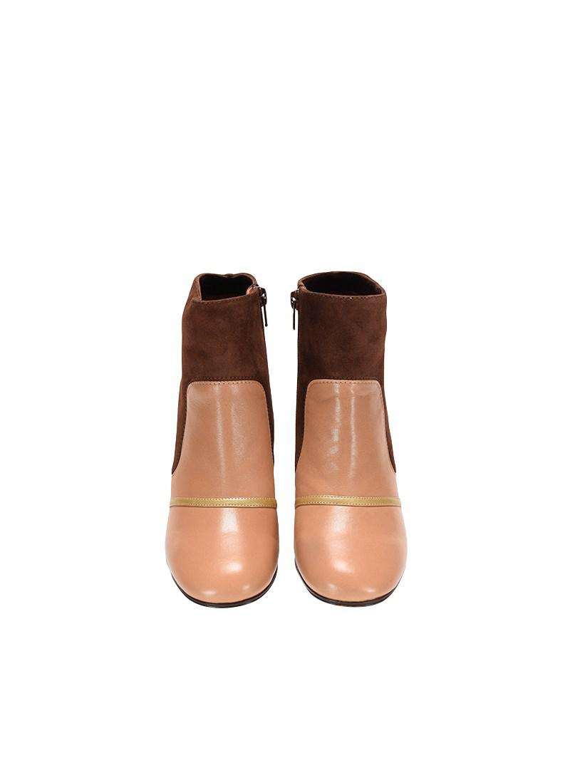 Chie Mihara Suede Gambler Boots in Brown