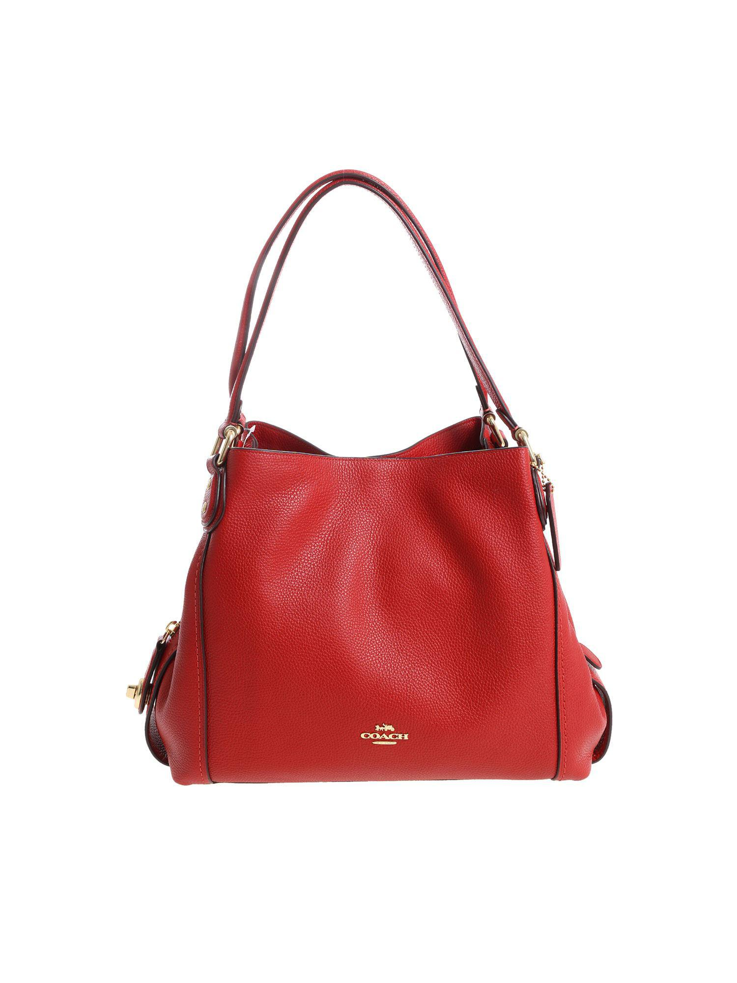 aaa3ae59 coupon coach edie shoulder bag red epic 8df72 44e3a