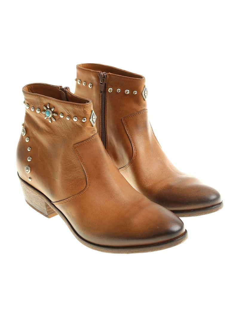 69ab6bc52c10 Lyst - Strategia Brown Roxana Ankle Boots in Brown