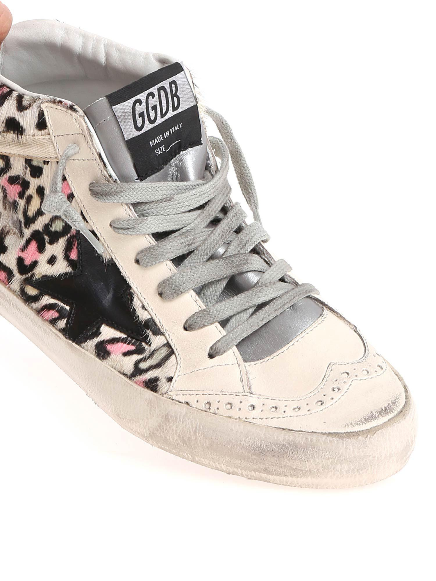 Golden Goose Deluxe Brand Leather Animal Printed Mid Star Sneakers