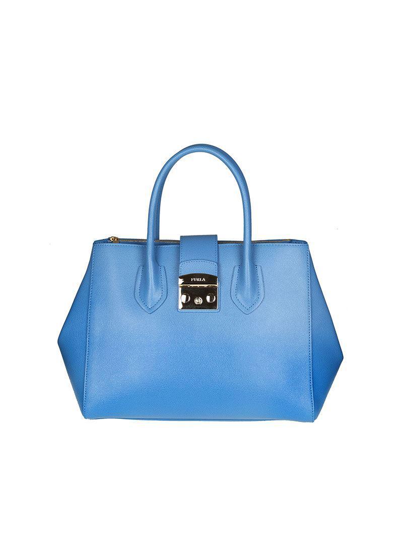 Furla Light blue Metropolis M bag y8AQBKOQ