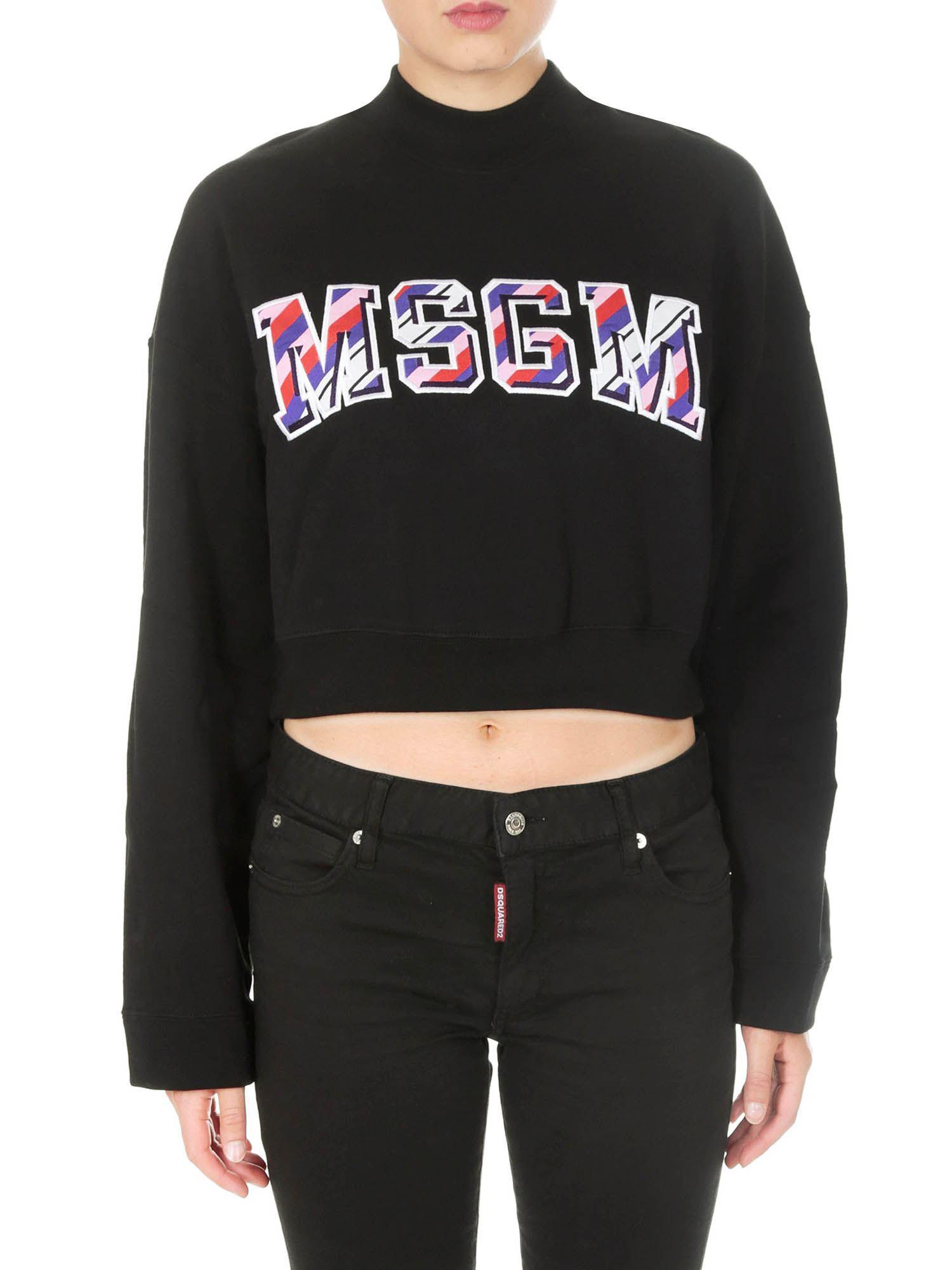 Women's Logo With Black Print Sweatshirt Msgm dAq8Id