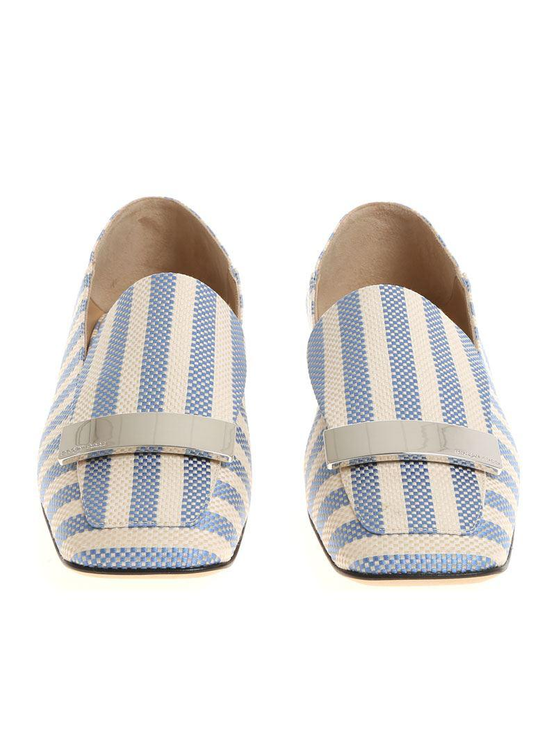 Ivory and light blue Portofino moccasins Sergio Rossi yWhRjECgY