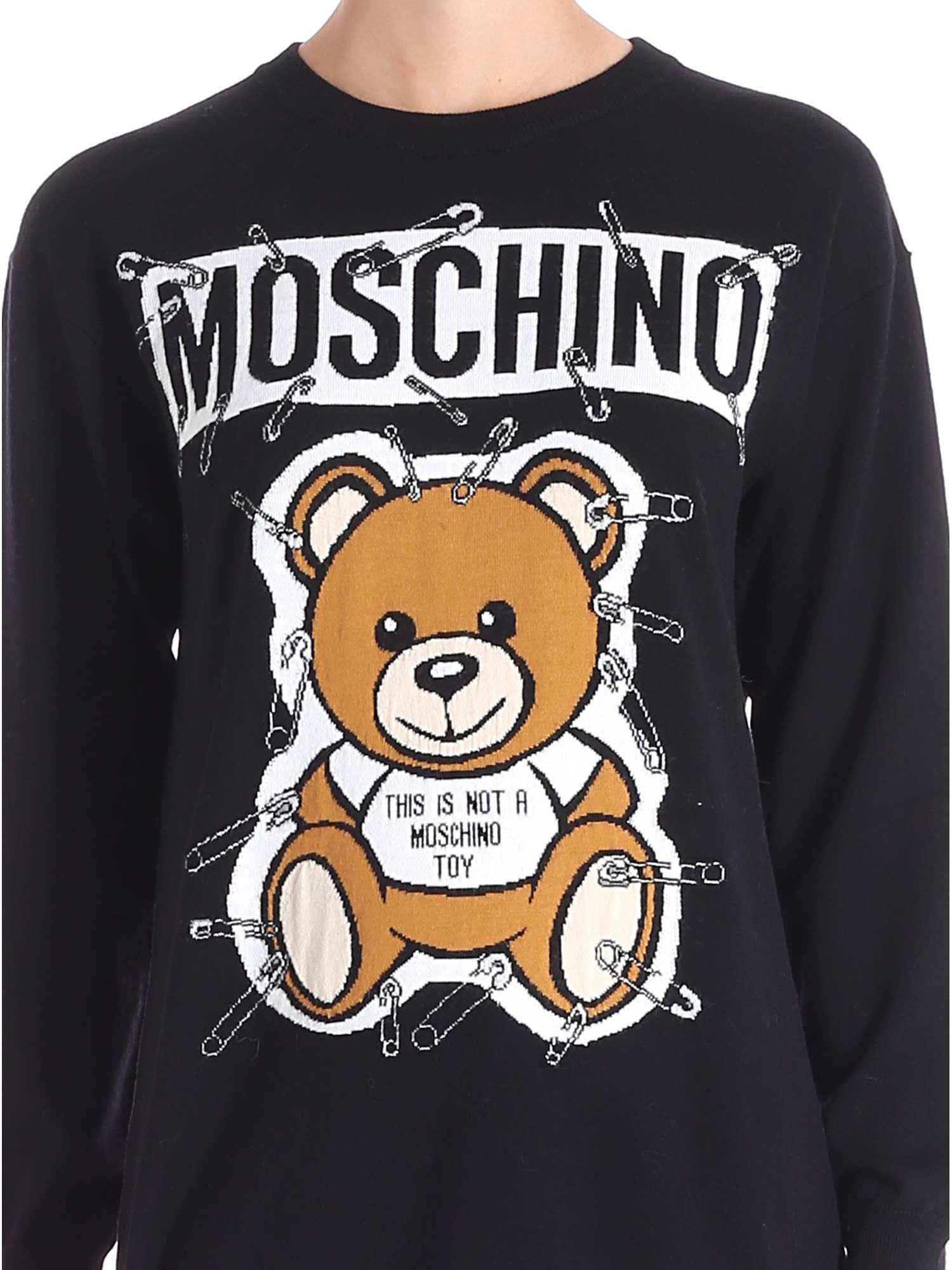 fdff26b15 Lyst - Moschino Bear Tee Dress in Black