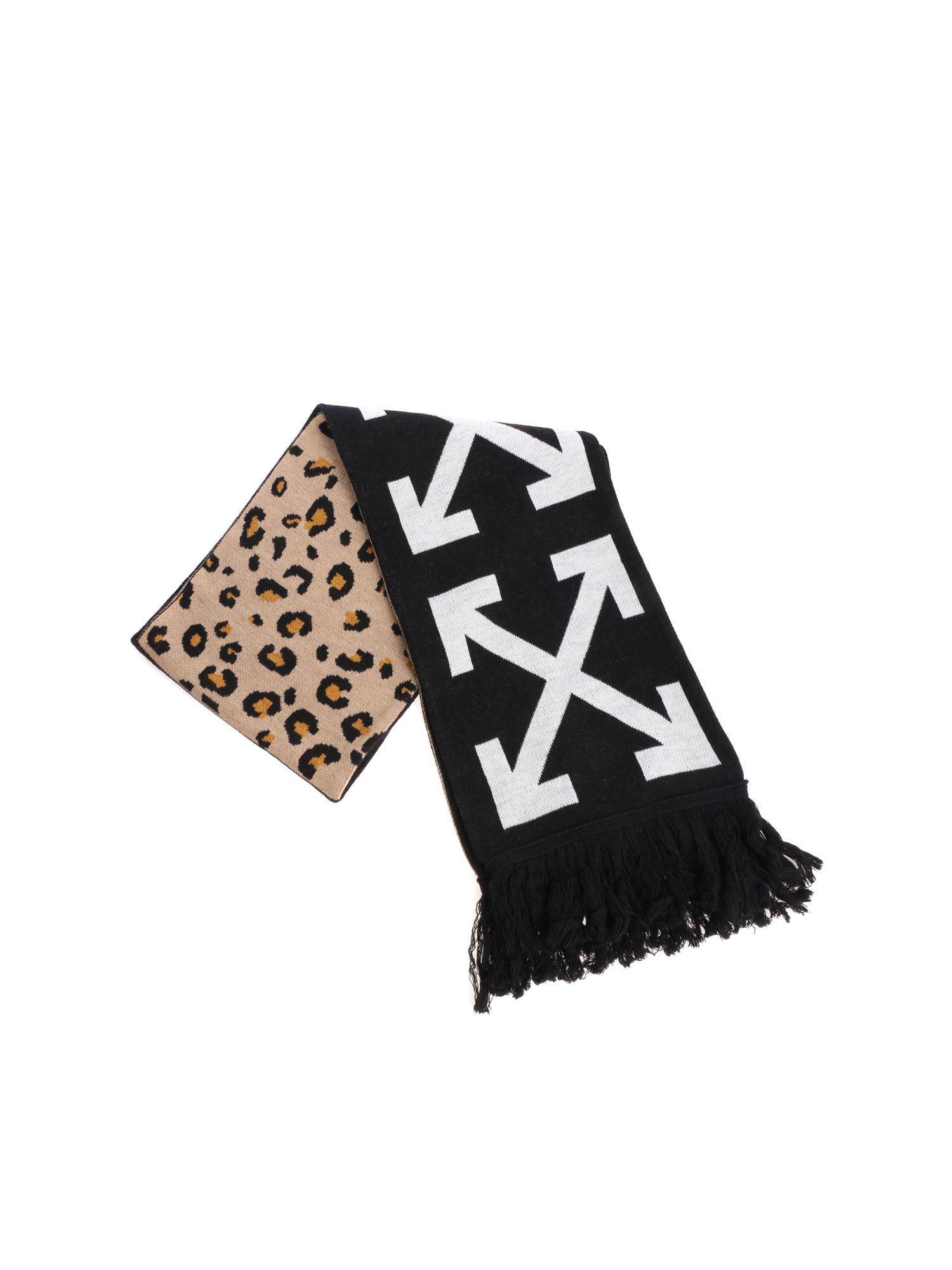 edd43559684e6 Off-White c/o Virgil Abloh Intarsia Wool Blend Scarf in Black for ...