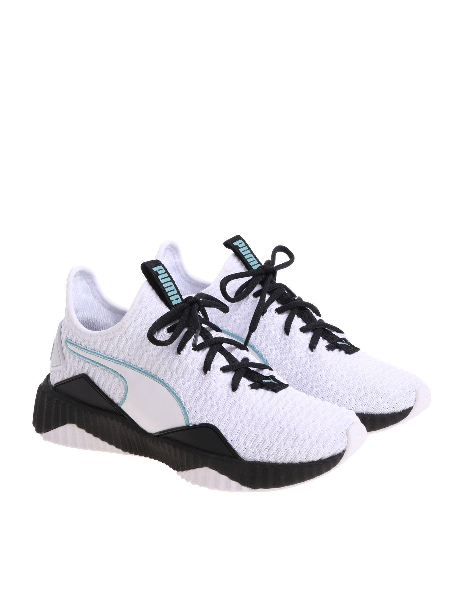 d2c0f0bf829778 PUMA - Black And White Defy Sneakers - Lyst. View fullscreen