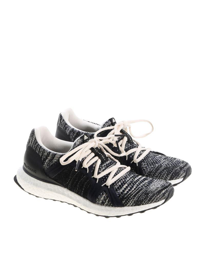 19884702f adidas By Stella McCartney. Women s White And Black Ultraboost Parley  Trainers