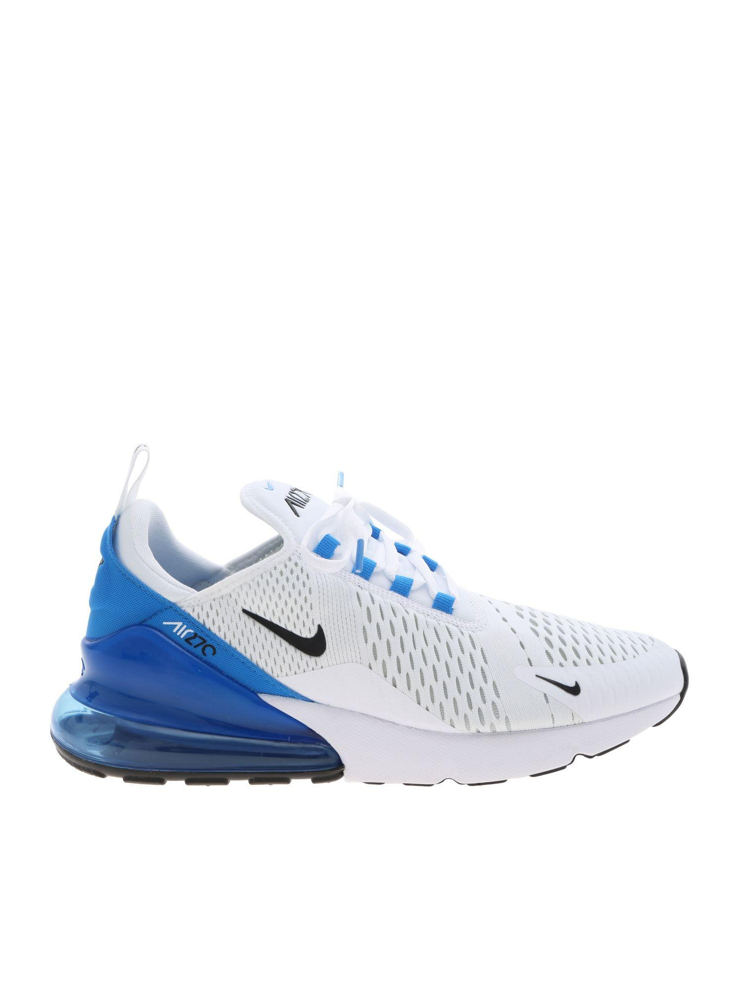 cheap for discount 1686a d7d5d Nike. Men s Air Max 270 Sneakers In White And Blue