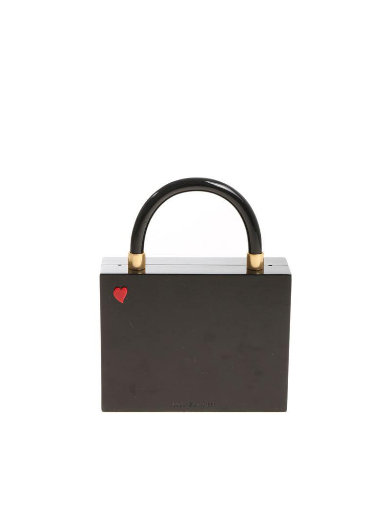 4c38e6088102f Lyst - Lulu Guinness Black Kissing Cameo Chloe Clutch Bag in Black