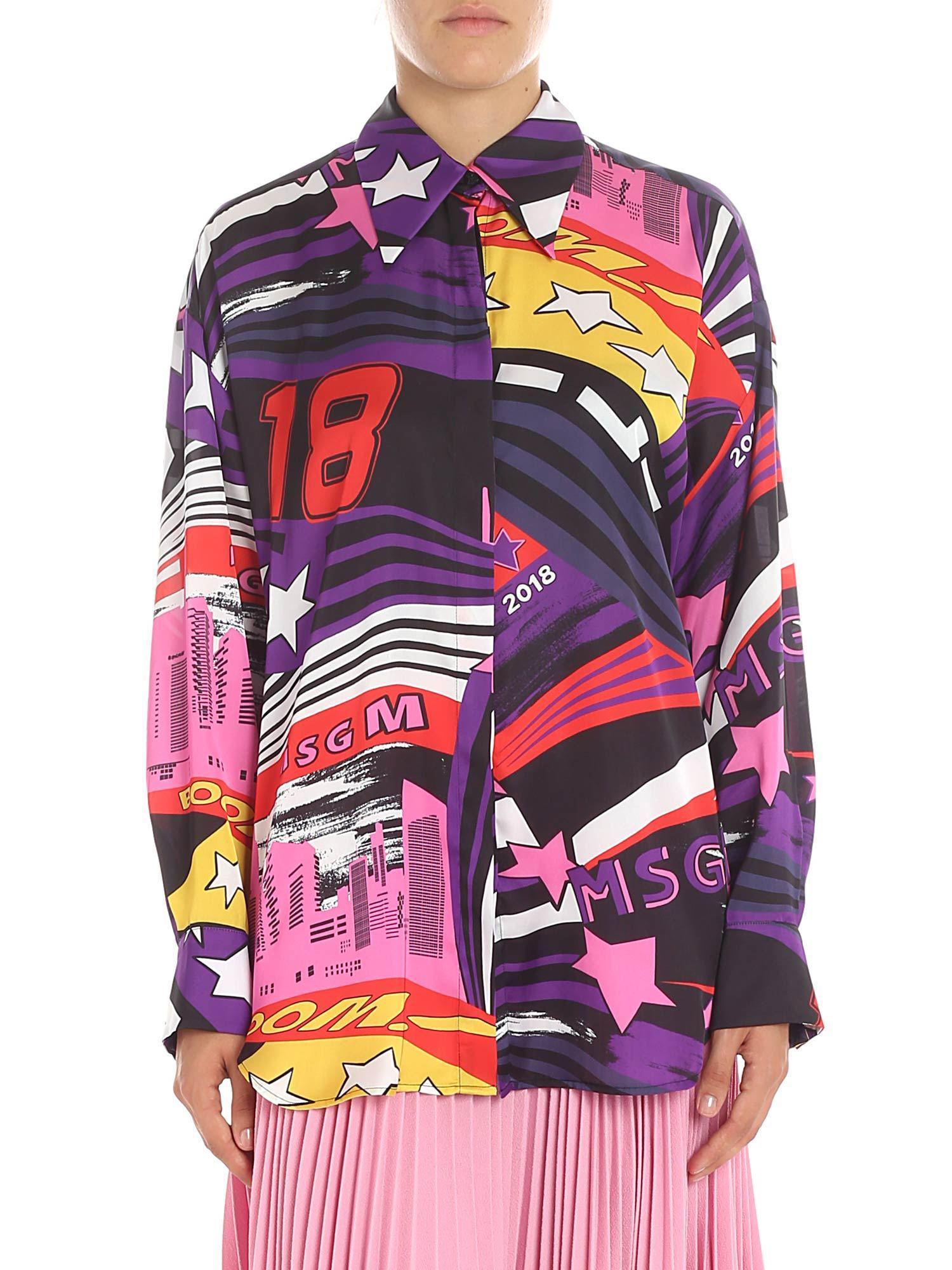 e82ae0f007 MSGM. Women s Multicolor Printed Shirt
