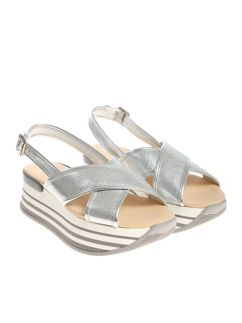 Discount Cheap Online Hogan H294 Silver Sandals New Arrival gcWjfJp0