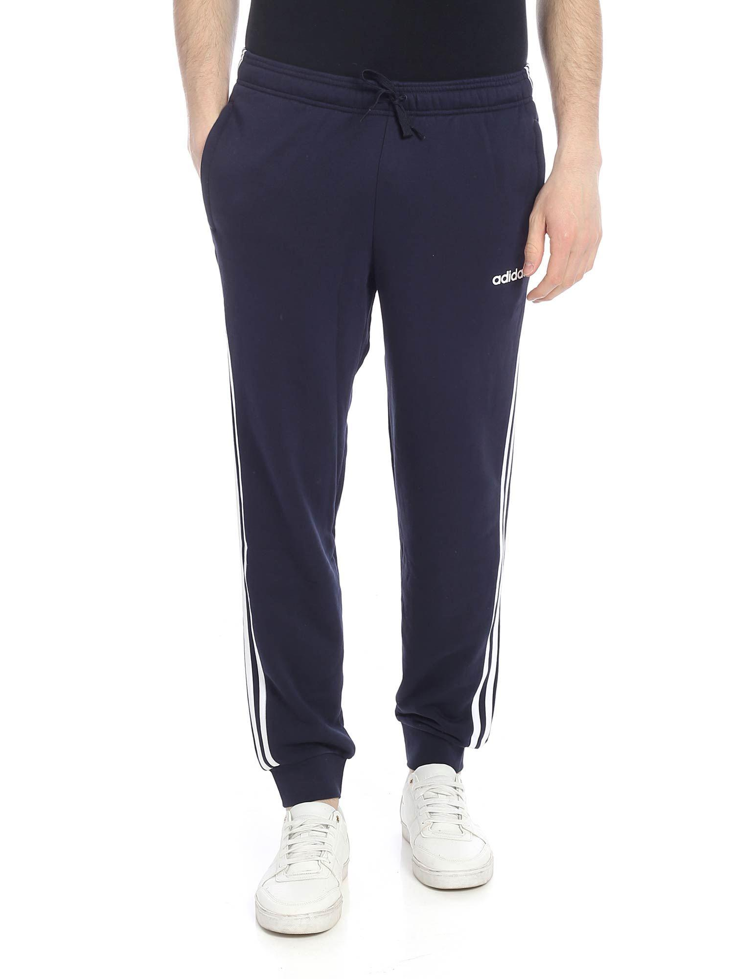 bde1e6258 Lyst - adidas Essentials 3-stripes Trousers In Blue in Blue for Men