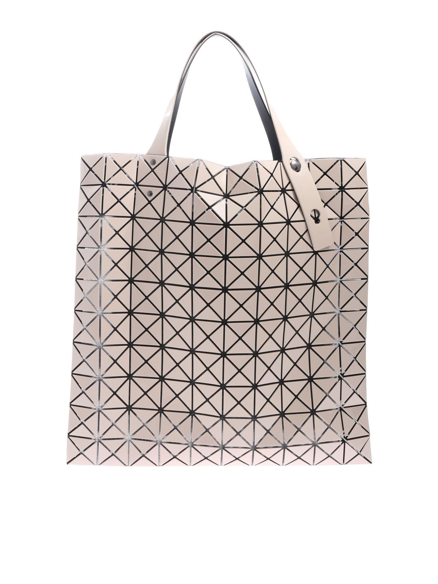 0ee25c43c3b4 Lyst - Bao Bao Issey Miyake Prism Beige Handbag With Triangular ...