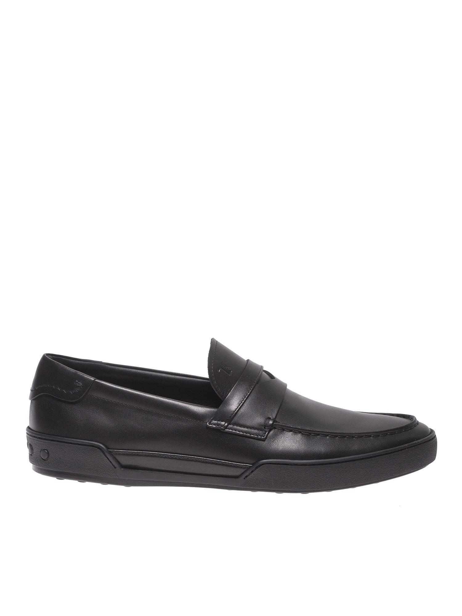 03f0346d823 Tod s Pennybar Loafers In Black Leather in Black for Men - Lyst