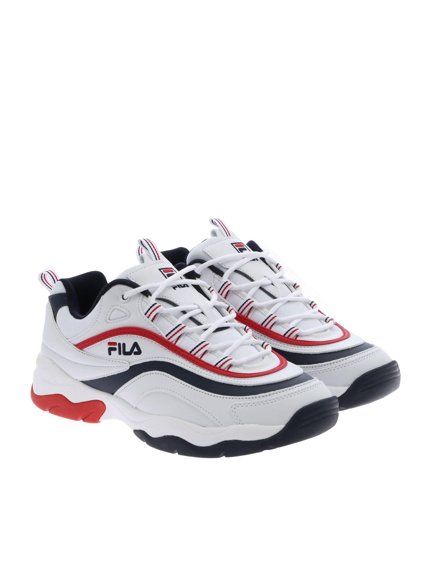 4d8064e8bddf Lyst - Fila  ray F  Sneakers in White for Men - Save 3%