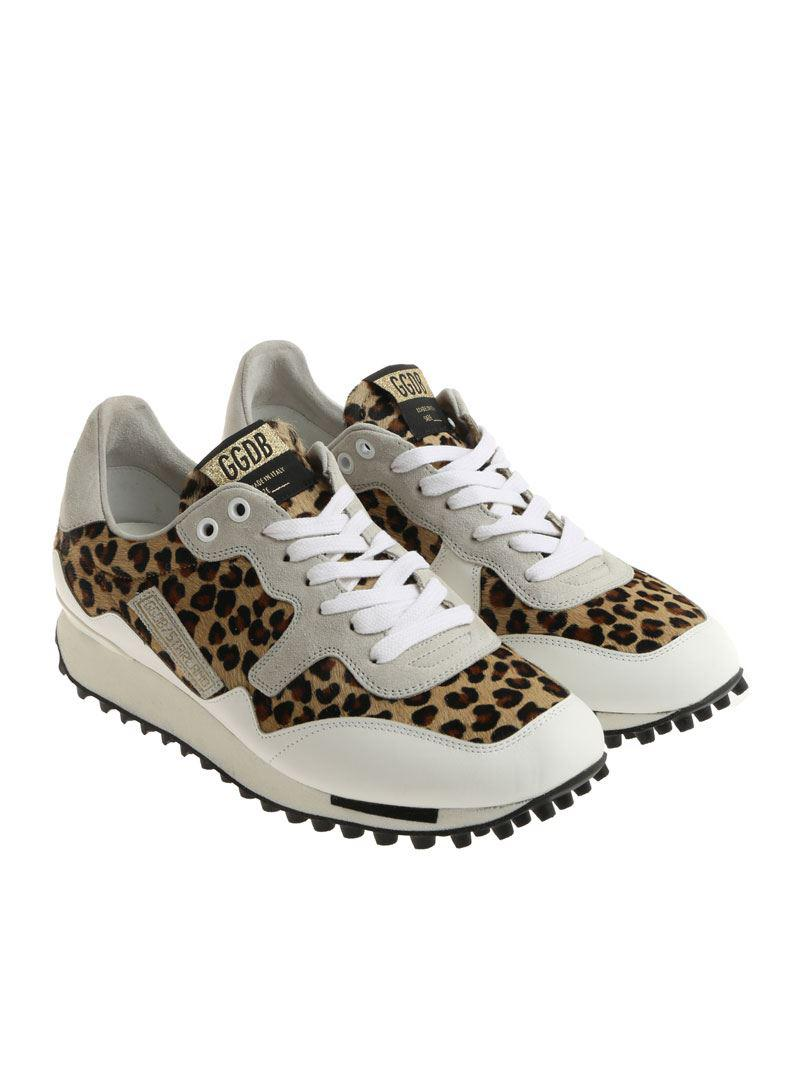 e9713207fc29c Lyst - Golden Goose Deluxe Brand White Starland Calf Hair Sneakers ...