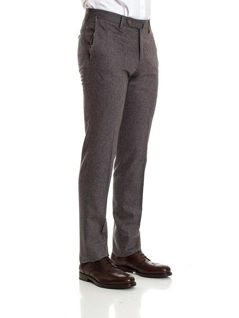 PT01 Wool Business Trousers in Grey for Men